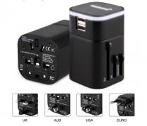 2 USB 萬用發光充電器 (TO302)